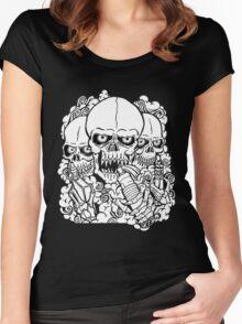 VAPING SKULL Women's Fitted Scoop T-Shirt