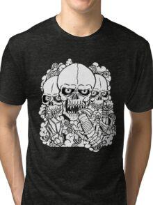 VAPING SKULL Tri-blend T-Shirt