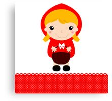New in shop : Vintage red riding Hood. Kids illustration Canvas Print