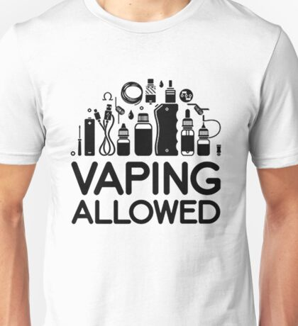 VAPING ALLOWED Unisex T-Shirt