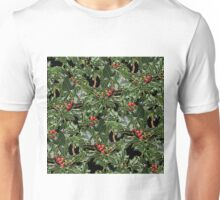 Holly berries Christmas pattern Unisex T-Shirt