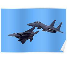 Two F-15E Strike Eagles Poster