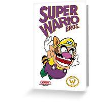 Super Wario Bros Greeting Card