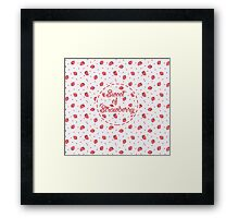 Seamless sweet of strawberry Framed Print