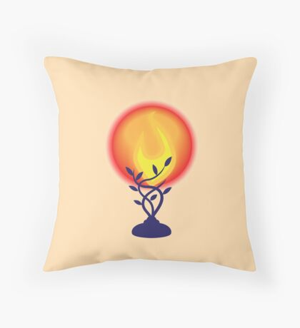 Sympathy lamp with red globe Throw Pillow