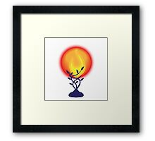 Sympathy lamp with red globe Framed Print