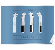 Graflex Lightsaber Poster (Blue) Poster
