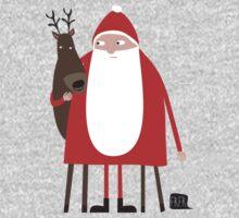 Weihnachtsmann mit Rentier One Piece - Short Sleeve