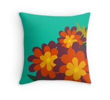 Flowers for Lola [orange bunch] Throw Pillow