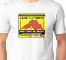Lake Superior Agate Hunter Permit Unisex T-Shirt