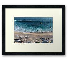 Blue ocean and beach Framed Print