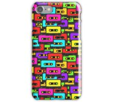 Colorful 80s analoge audio tapes iPhone Case/Skin