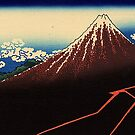 'Lightning Below the Summit' by Katsushika Hokusai (Reproduction) by Roz Abellera Art Gallery