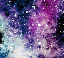 Watercolor Galaxy in Blot Sticker