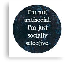 Socially Selective Canvas Print