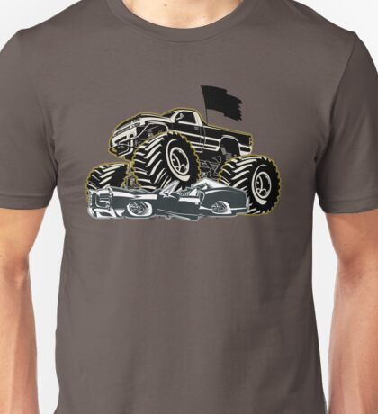 Cartoon Monster Truck Unisex T-Shirt