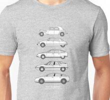 Citroen Haut de Gamme car art, TA, DS, CX, XM, C6. Unisex T-Shirt