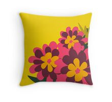 Flowers for Lola [pink bunch] Throw Pillow