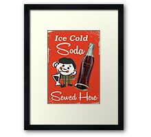 Ice Cold Soda Drink Commercial Framed Print