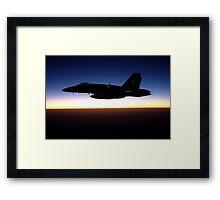 F/A-18C Hornet at Sunset Framed Print