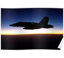 F/A-18C Hornet at Sunset Poster