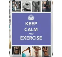 Keep Calm and Exercise iPad Case/Skin