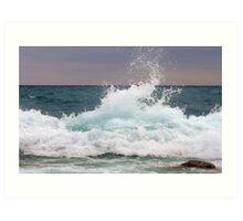 Big waves at the Little Cove ~ Bruce Peninsula, Ontario, Canada Art Print