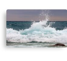 Big waves at the Little Cove ~ Bruce Peninsula, Ontario, Canada Canvas Print
