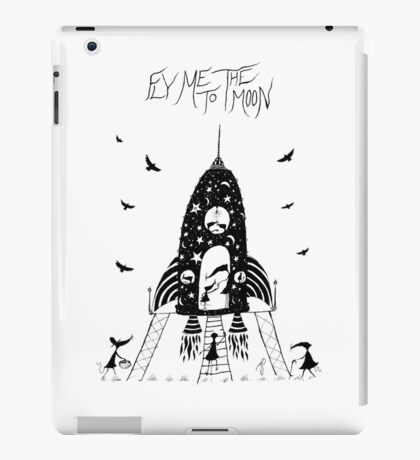 Fly Me To The Moon illustration by Jamie Patterson iPad Case/Skin