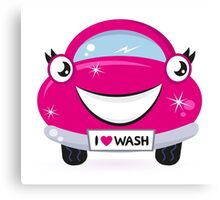 New car in shop : Pink character designers edition Canvas Print