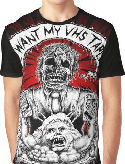 Say You Love Satan 80s Horror Podcast - Creepshow Basketcase VHS Graphic T-Shirt