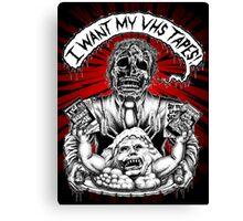 Say You Love Satan 80s Horror Podcast - Creepshow Basketcase VHS Canvas Print