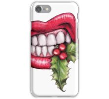 Christmas Holly Lips iPhone Case/Skin