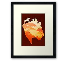The Heart of a Lioness Framed Print