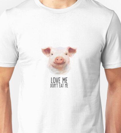 Animal Rights Statement Pig Unisex T-Shirt
