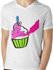 Cupcake Mens V-Neck T-Shirt