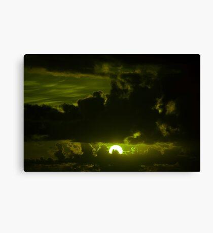 dark moody olive sunset sky Canvas Print