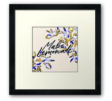 Make Lemonade Framed Print