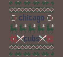 Christmas Chicago Cubs One Piece - Short Sleeve