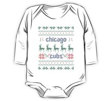 Christmas Chicago Cubs One Piece - Long Sleeve