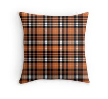 Pumpkin Plaid Throw Pillow