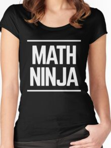 Math Ninja Math Geek Women's Fitted Scoop T-Shirt