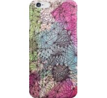 Geometric Abstract Watercolor and Line Drawing iPhone Case/Skin