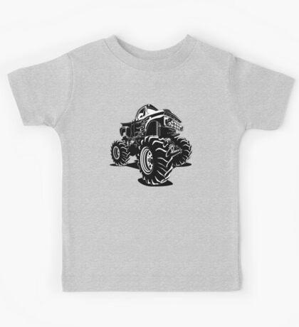 Cartoon Monster Truck Kids Tee