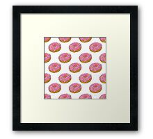 Donuts_ White Framed Print