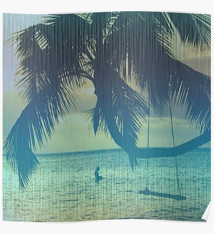 Tropical beach Poster