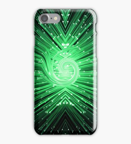 Abstract fiber optic. iPhone Case/Skin