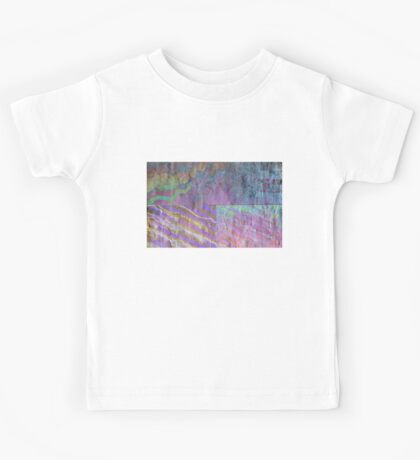 Abstract Photography: Oilslick Collage Kids Tee