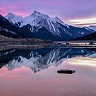 Pink Reflections of Medicine Lake by Kristin Repsher