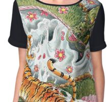 Japanese Tattoo Duel Chiffon Top